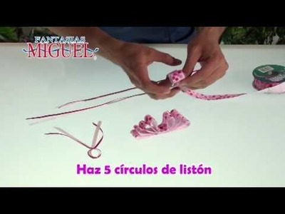 Como hacer una Peineta Rosa
