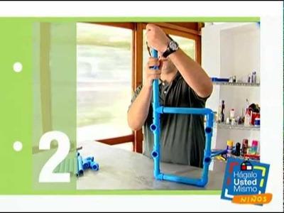 ¿Cómo hacer una silla de PVC para niños?