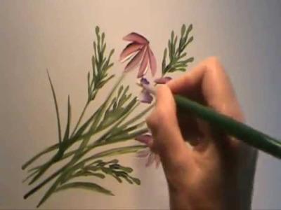 Disfruta pintando flores con Gloria Moran