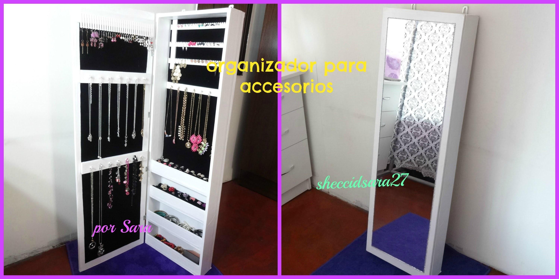 DIY organizador de cartón para accesorios