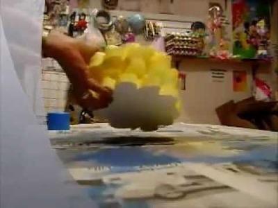 Elaboracion de adorno para pastel, piñatas,centros de  mesa parte 2