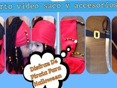 Elaborando Disfraz De Halloween 4a. Parte (( Disfraz De Pirata )) - Saco y Accesorios -