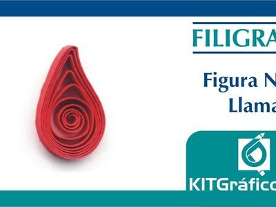 Filigrana (Quilling) figura básica No.4 - Llama