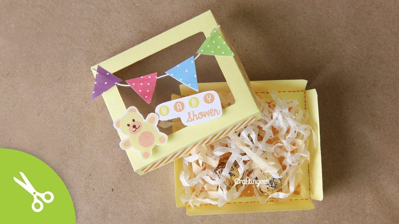 Invitación para Baby Shower: Caja-Tarjeta Multiusos