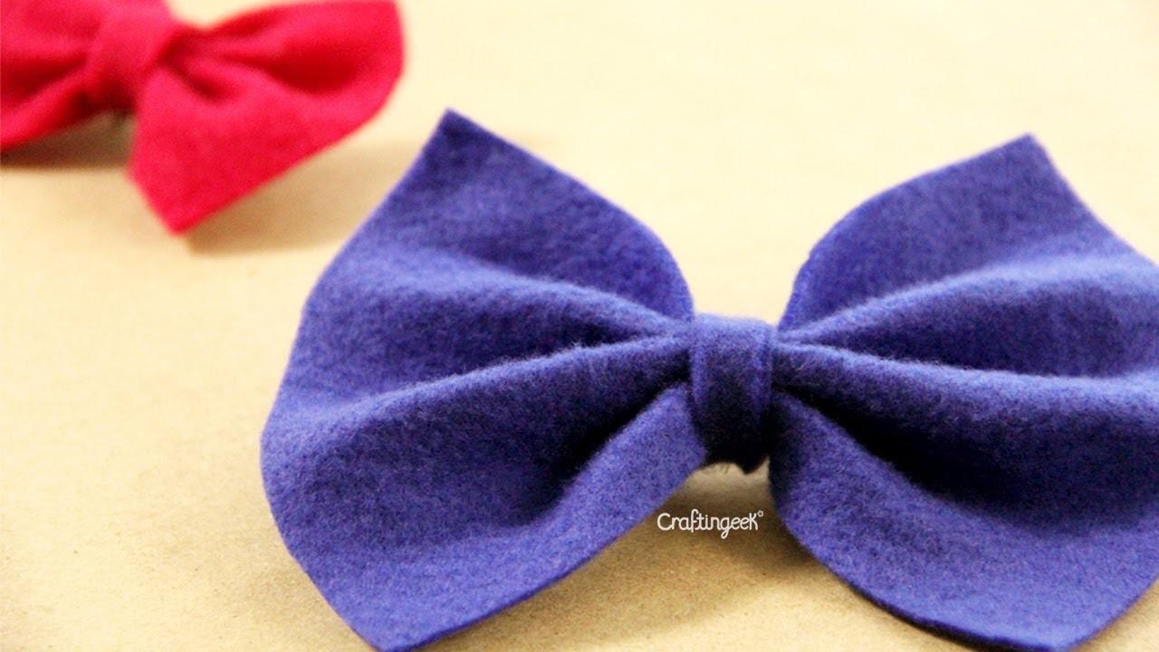 Moño de Fieltro. DIY Felt bow