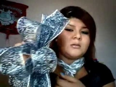Moño navideño, como hacerlo??