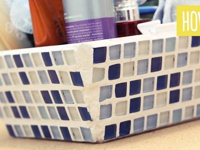 Organizador de baño con Mosaicos | Craftingeek*