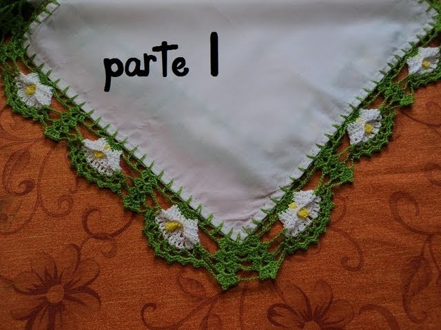 PUNTILLA DE ALCATRAZ.PARA SERVILLETAS. PARTE 1 (GANCHILLO)