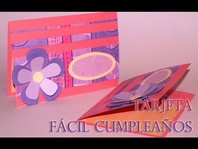Tarjeta Fácil con Flores - DIY - Easy Fowers Card