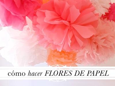Tuto decoración: Cómo hacer flores de papel