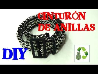 121. DIY CINTURON [SIN TEJER]  RECICLAJE DE ANILLAS DE LATAS DE BEBIDAS