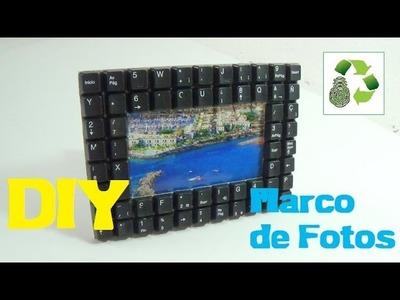 143. DIY MARCO PARA FOTOS (RECICLAJE DE TECLADOS)
