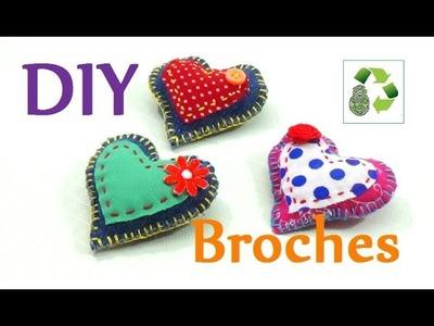 151. DIY BROCHES (RECICLAJE DE TELA)