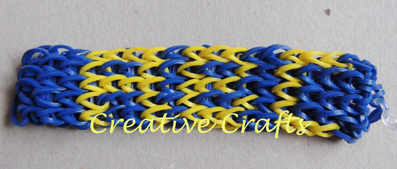 Abecedario para pulsera con nombre de gomitas ABC (PARTE 1). Rainbow Loom bracelet name.