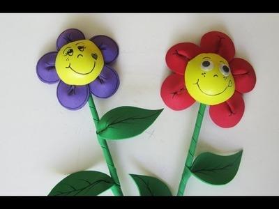 Adorno para fiestas - Flor de goma eva - Manualidades para todos