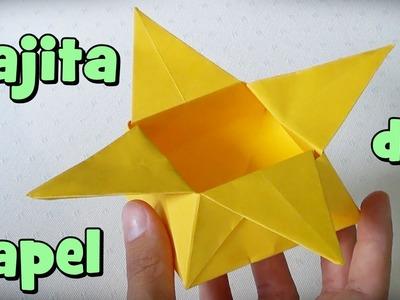 Caja de Papel Estrella- Cajita de Origami