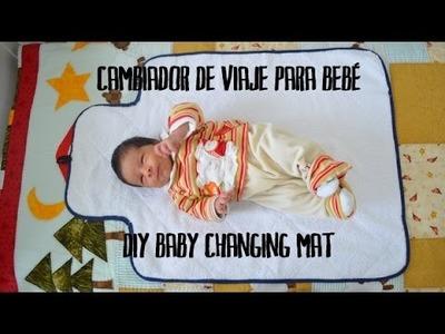 Cambiador de viaje para bebé - DIY baby changing mat