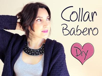 Collar babero fácil con tachuelas | ¿Como hacer un collar babero?