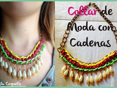 Collar de moda con Cadenas DIY