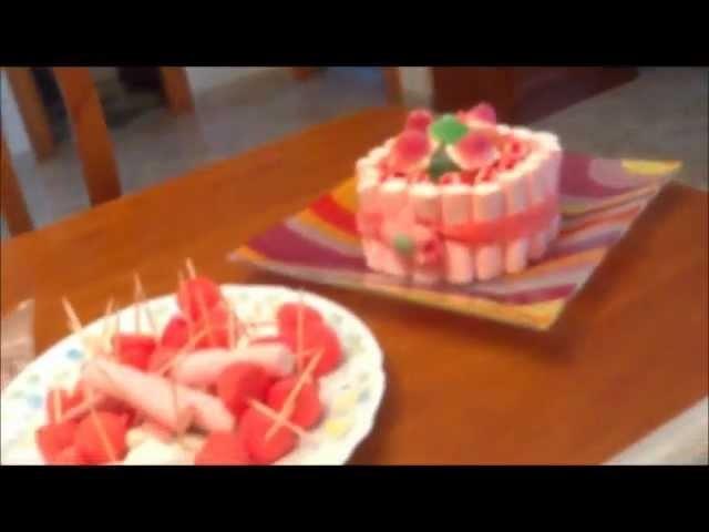Cómo ahorrar haciendo una tarta de chucherías por 3 euros