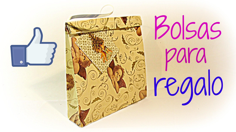 Cómo hacer bolsas de regalo FÁCIL. How to make easy gift bags