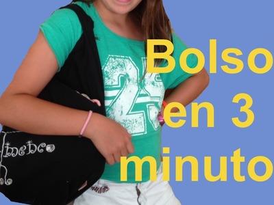 Cómo hacer bolso sin coser en 3 minutos