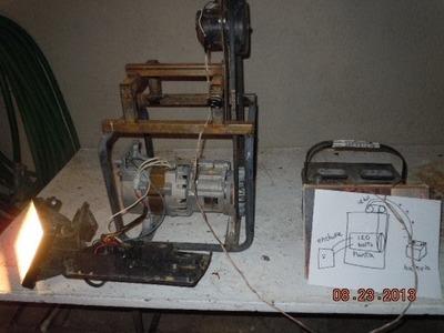 Como hacer electricidad gratis de 12 a 120 volts tutorial