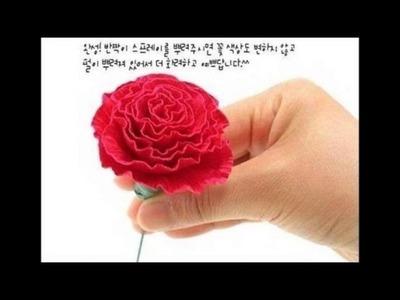 ¿Cómo hacer flores con papel crepé? *