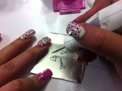 Como hacer placas para estampar uñas. DIY how to make stamping plates for nails. Febrero 2015