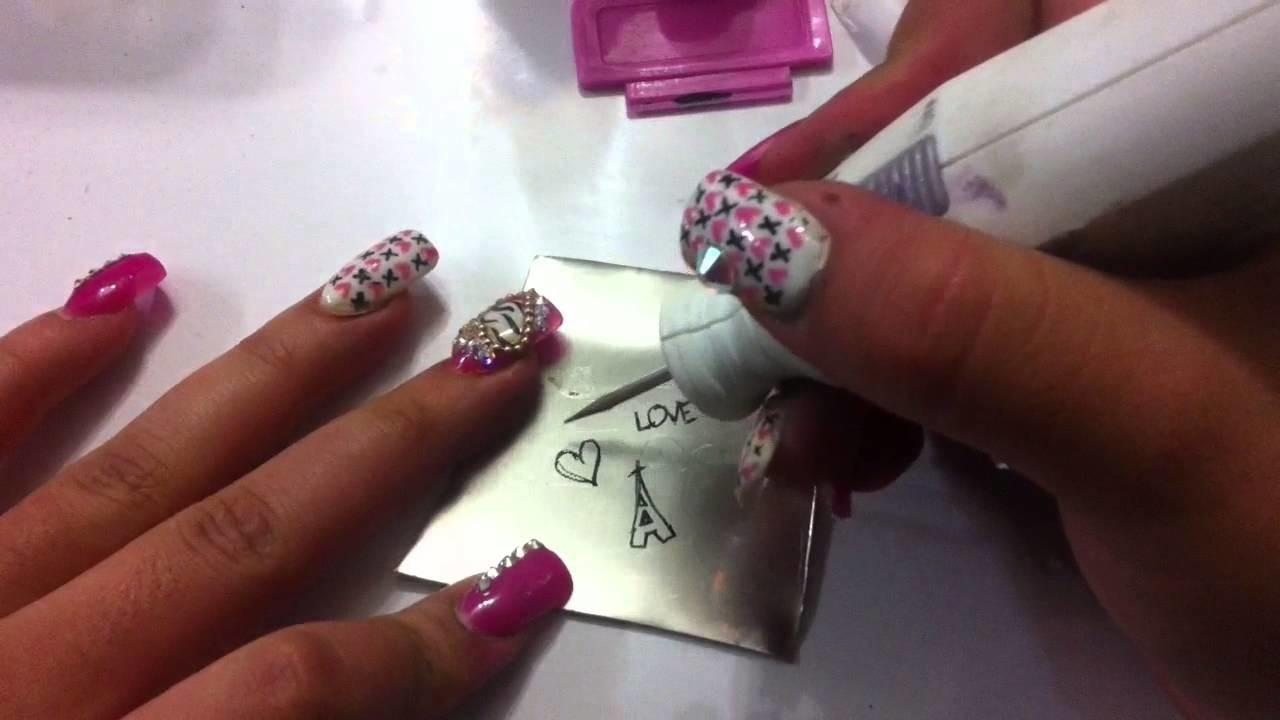 Como hacer placas para estampar uñas. DIY how to make stamping plates for nails. Febrero 2015