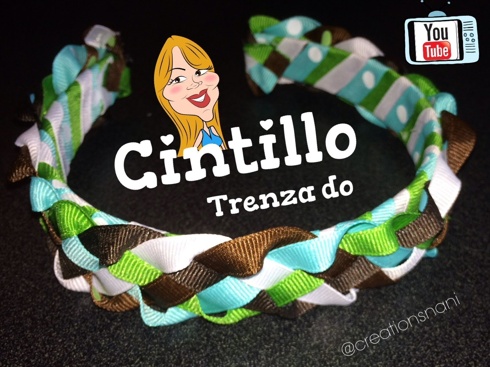 Como hacer un Cintillo de 5 Cintas (Trenzado) - How to make a headband | Creations Nani