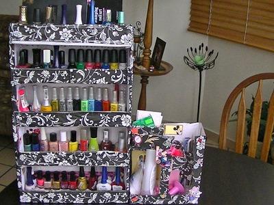 Como hacer un organizador  para esmaltes