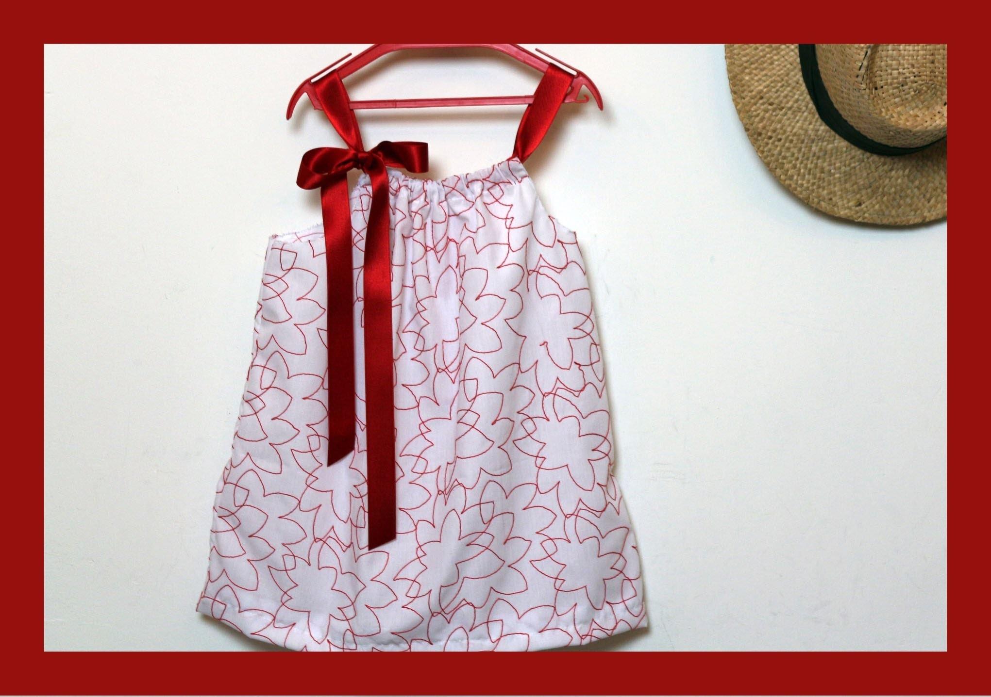 Cómo hacer un vestido para niña con una funda de almohada. Pillowcase dress