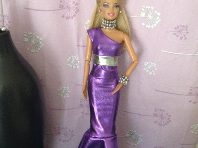 COMO HACER VESTIDO DE FIESTA PARA MUÑECAS BARBIE, MONSETR HIGH Y EVER AFTER HIGH