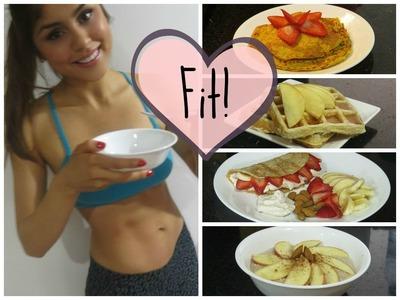 Desayunos FIT ♡( Pancakes, Waffles, Crepes y Bowl)