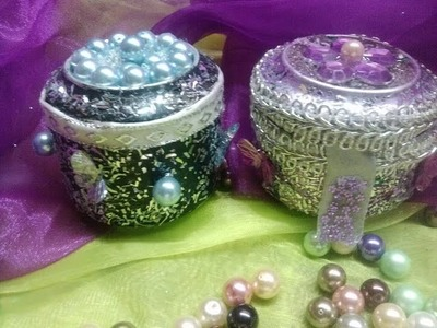 DIY Cajitas con latas de aluminio- Boxes out of aluminium cans