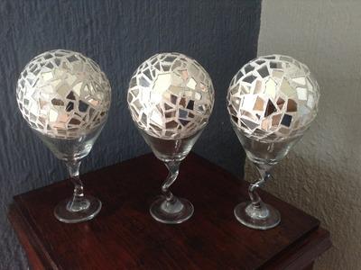 ( DIY ) Esferas de espejo tipo mosaico para decoracion.