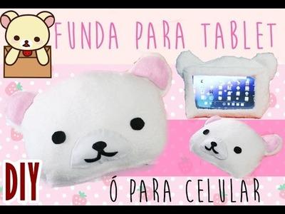 DIY: FUNDA PARA TABLET ♥ KORILAKKUMA
