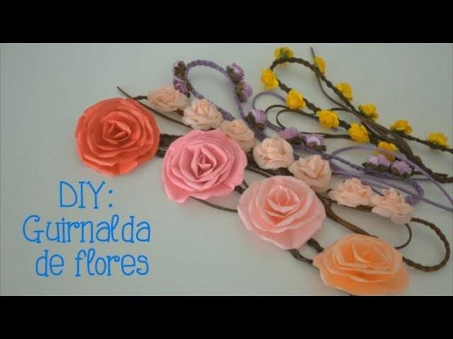 DIY: Guirnalda de flores! Accesorio para tu cabello :3