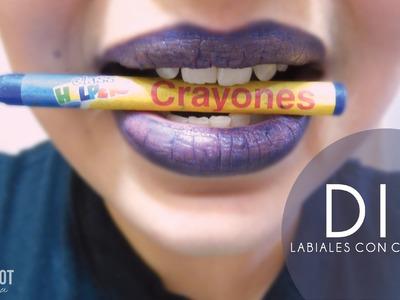DIY LABIALES CON CRAYOLAS.