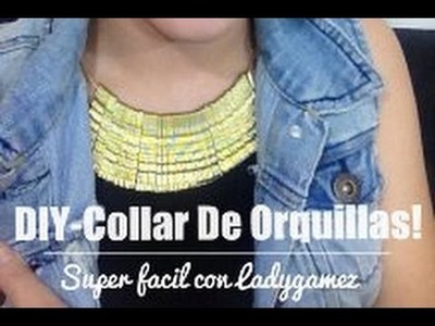 DIY- Maxi Collar de Orquillas! Bobby Pin Necklace!