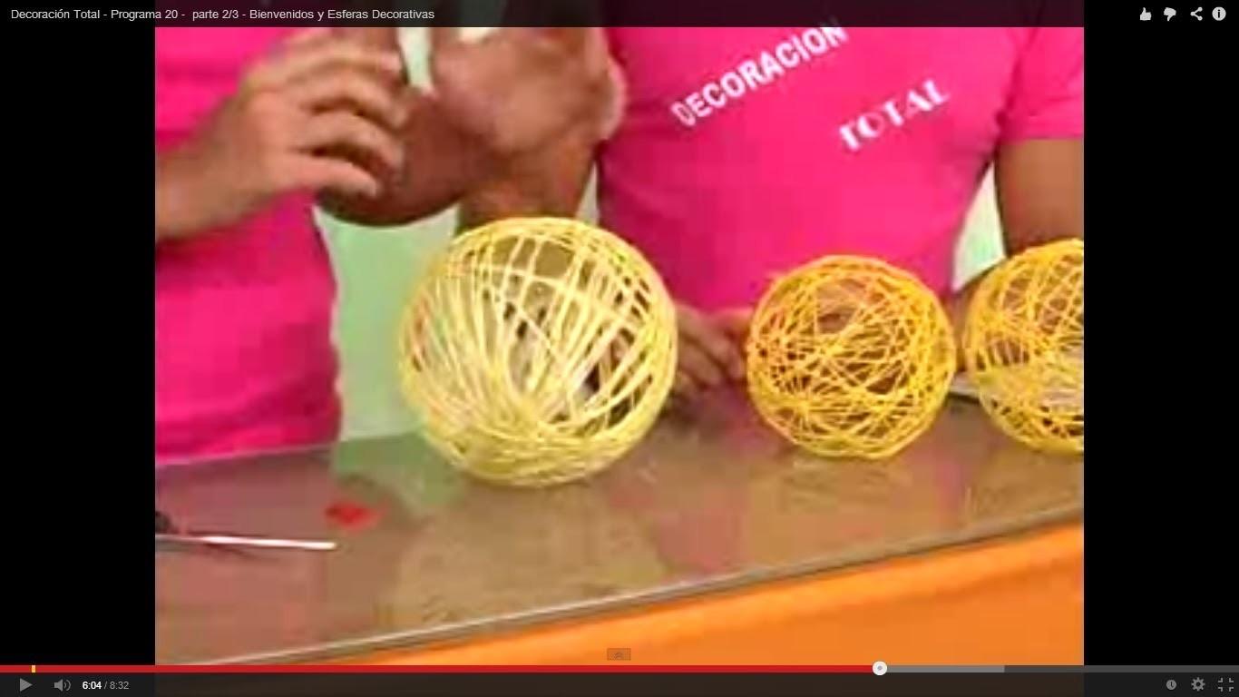 Esferas Decorativas (fáciles y prácticas) - Programa 20 -  parte 2.3