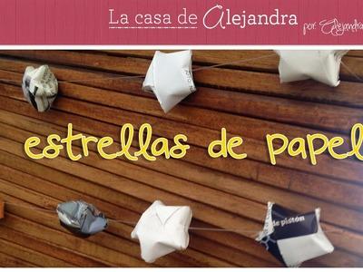 Estrellas de Revistas para Arbol de Madera DIY Alejandra Coghlan