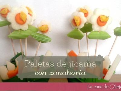Flores de jicama y zanahoria - DIY jicama & carrot flowers
