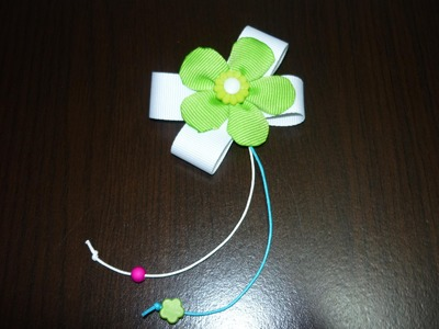 Flores en cinta o liston  para decorar accesorios del cabello No.026 Manualidades la hormiga