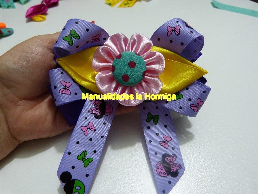 Flores en tela para decorar moños lazos  o clips para el cabello - fabric flower hair clips
