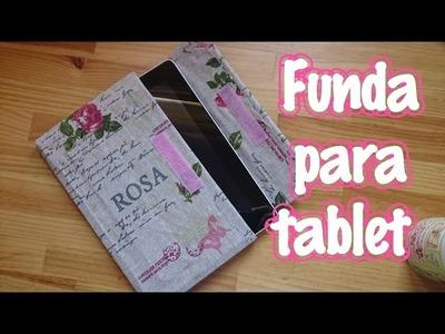 FUNDA PARA TABLET de cartón y tela sin coser