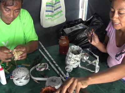 La Antigua Veracruz Manualidades echas con periódico