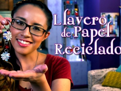 Llavero de Papel Reciclado - Crafting Studio