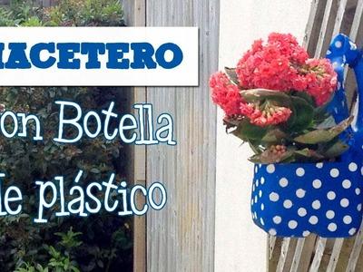 Macetas con botellas de plástico | Manualidades con reciclaje